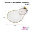 marble stone drawing dish white nail art tips display